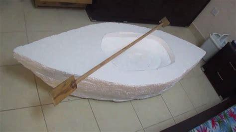 foam boat a boat we made from styro foam youtube