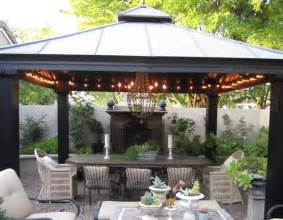Backyard Metal Gazebos by Anythingology My Outdoor Dining Room