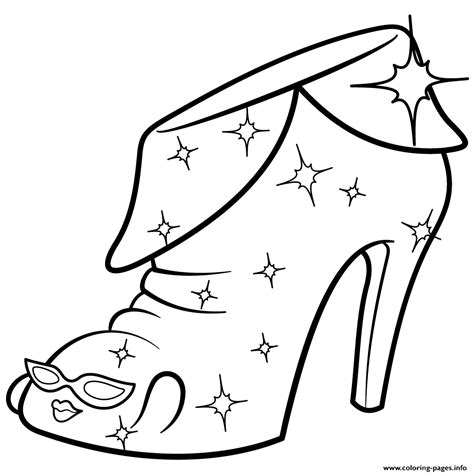 coloring pages of limited edition shopkins limited edition angie ankle boot shopkins season 2