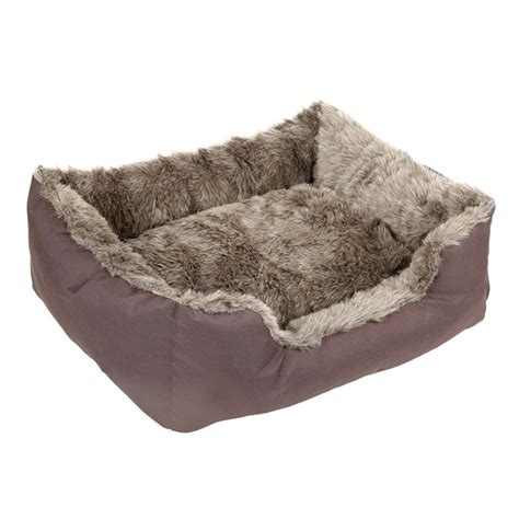 fur dog bed 4paws deluxe faux fur pet beds buy pet beds