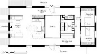 plan rectangulaire avec patio ooreka
