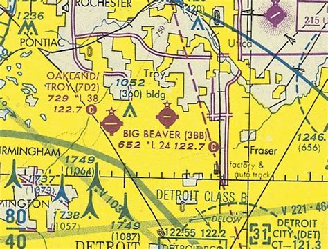 detroit sectional chart abandoned little known airfields michigan northwest