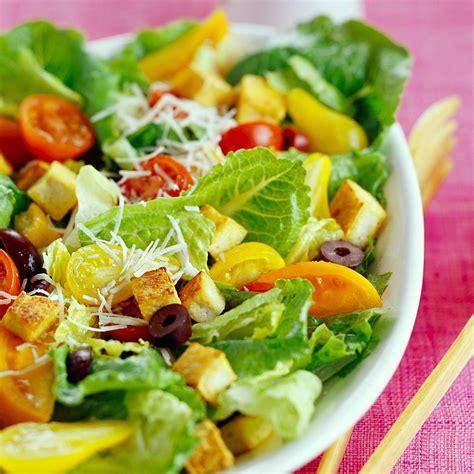 green salad recipes caesar salad with tofu croutons recipe eatingwell