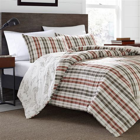 plaid comforter set eddie bauer point permit plaid comforter duvet set from