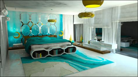 turquoise bedroom decor ideas turquoise bedroom by katarzyna durlej at coroflot com