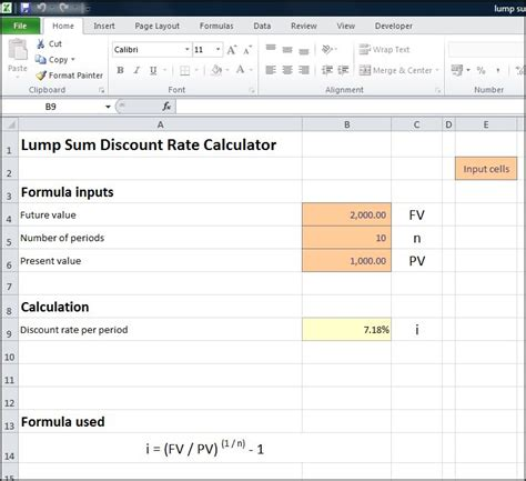 calculator rate lump sum discount rate calculator double entry bookkeeping
