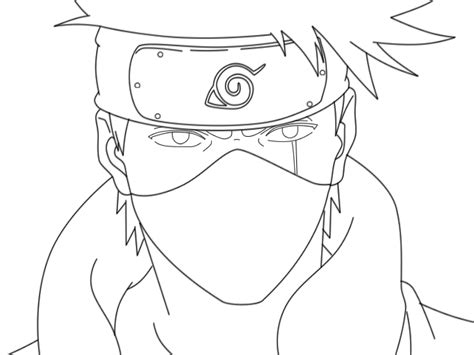 anime naruto coloring pages luiscachog me kakashi lineart by bigowner on deviantart