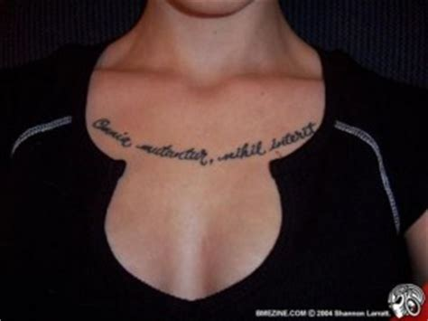 latin tattoo on chest feminine tattoo images designs