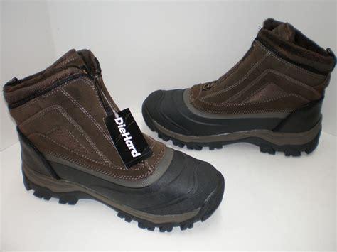 mens zipper snow boots nib mens diehard waterproof zipper zip up winter snow