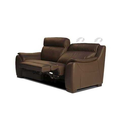 italian leather recliner sofa calia italia serena 3 seater power recliner brown italian