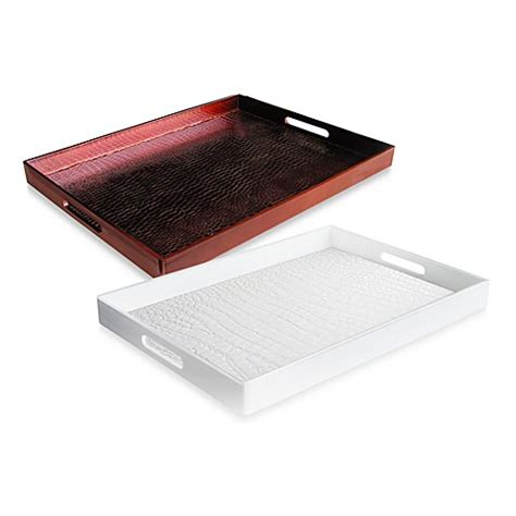 bed bath and beyond trays alligator embellished 14 inch x 19 inch rectangular