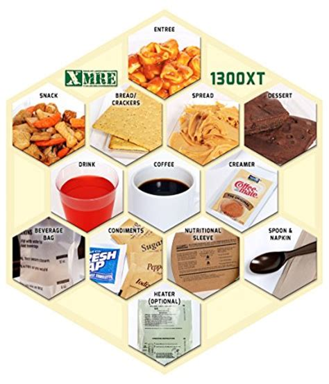 What Is The Shelf Of Mre Meals by X Mre Meals 1300xt Single Meal With Heater Meal Ready To