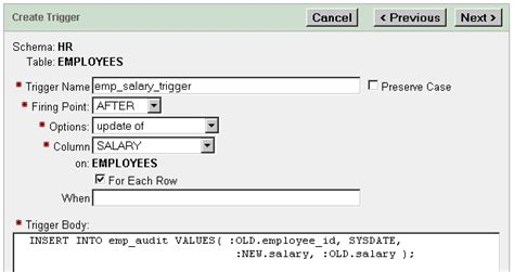tutorial oracle trigger 6 using triggers