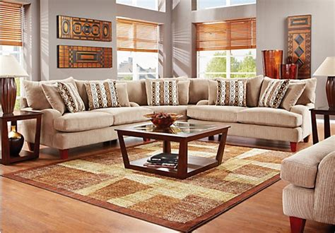 shop for a weston mills 6 pc sectional living room at