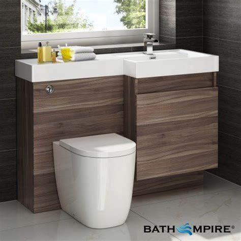 Combined Bathroom Vanity Units Outdoors Toilet With Unit Light Walnut Combined Vanity Unit Toilet And Basin 1206x880mm