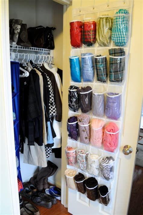 organize scarves in closet 15 simple ways to organize scarves