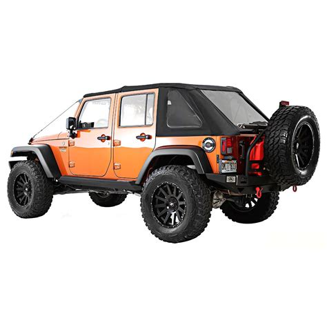 2007 Jeep Wrangler Soft Top Parts Smittybilt Soft Top New Black Jeep Wrangler 2007 2015