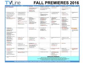 Tv Schedule Fall Tv Premiere Dates 2016 Schedule Of Season Series