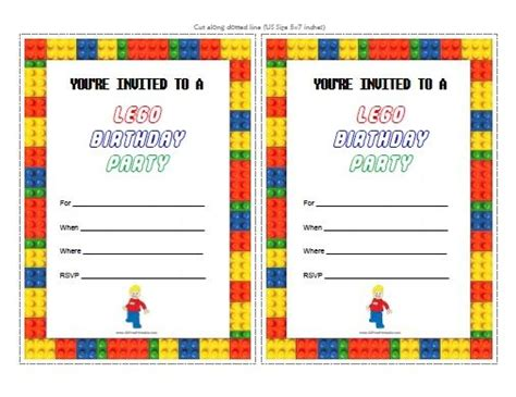 25 best ideas about lego birthday invitations on