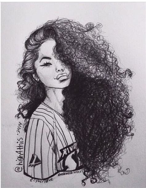 curly hairstyles drawing natural curly hair pinteres