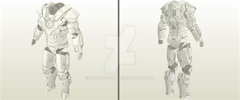 iron suit template iron 3 mk17 heartbreaker armor by mrtropical by