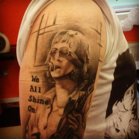 john lennon tattoo shoulder realistic lennon by gtc
