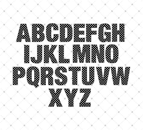 pattern dots font installable polka dot pattern font otf and ttf format