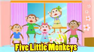 five monkeys jumping on the bed with lyrics