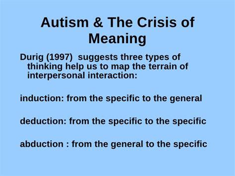 define specific induction social understanding in autism