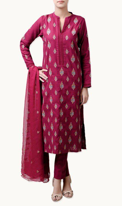 bareeze fall winter classic embroidered collection    women