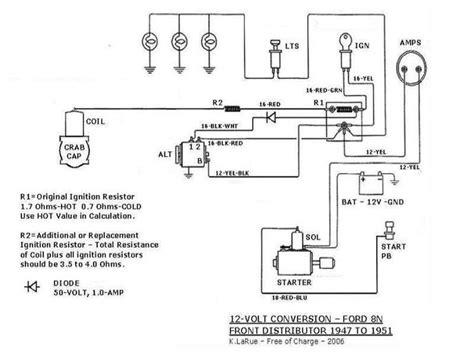 ford 9n wiring diagram 12 volt conversion 41 wiring