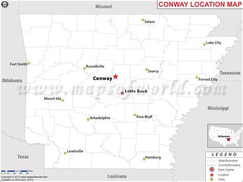 us map conway arkansas where is conway arkansas