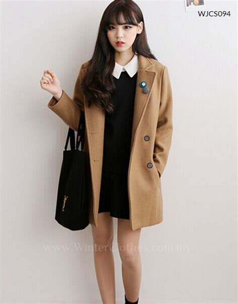 korean style casual trench coat winter clothes