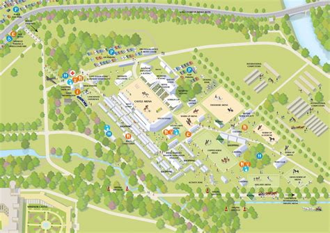 show map of show map for royal show