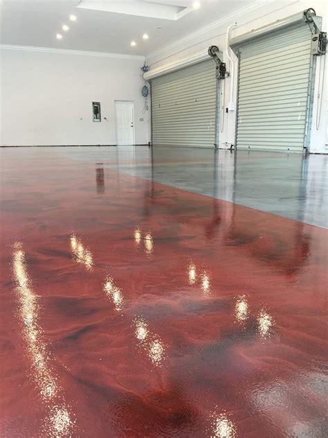 Red and Pewter Metallic Garage Floor   Surecrete Products