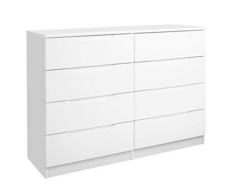 High Gloss Drawers by Trend 8 Drawer White High Gloss Chest