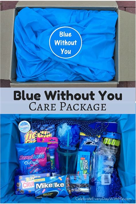 blue you and me blue without you care package celebrate every day with me