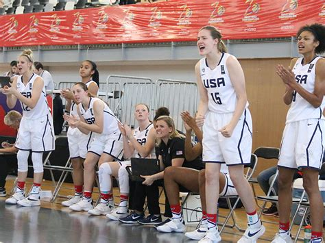 basketball bench cheers usa basketball usa u17 world chionship team members