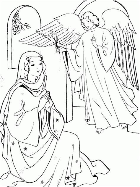 free coloring pages angel and mary angel and mary coloring page kids coloring