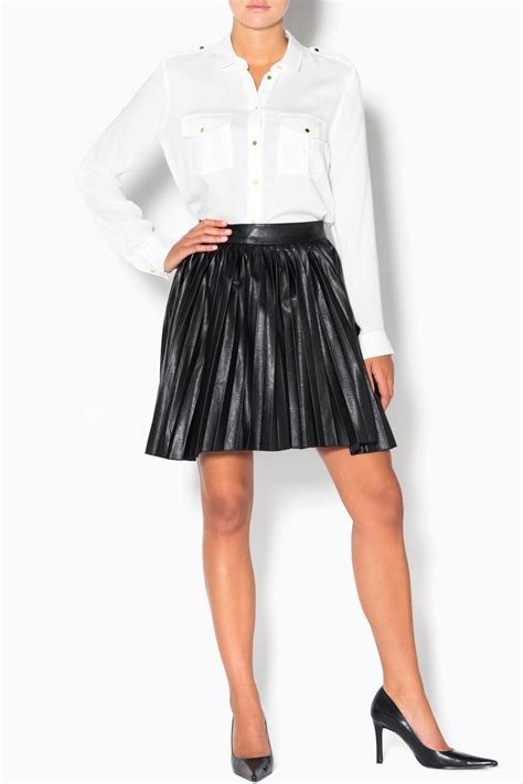 pleated pleather skirt from vancouver by the scoop