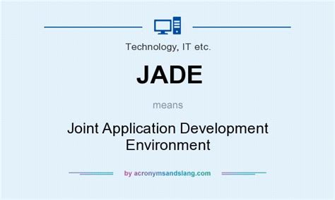 joint application design definition jade joint application development environment in