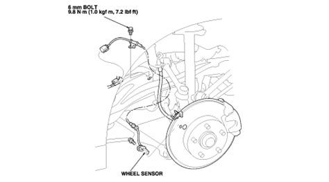 repair anti lock braking 2000 honda accord on board diagnostic system repair guides anti lock brake system abs wheel speed sensors autozone com