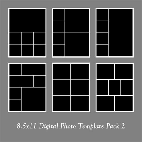 5 photo collage template 8 5x11 photo template pack photo collage portfolio