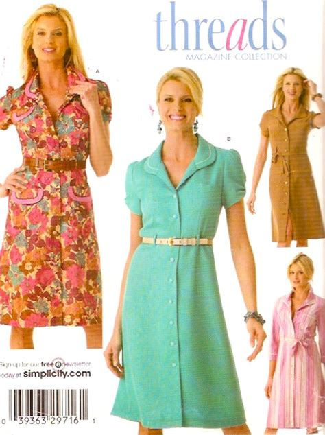 t shirt dress pattern simplicity simplicity 4171 threads collection dress pattern shirt dress