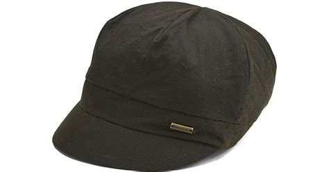 barbour s aspley baker boy hat in green lyst