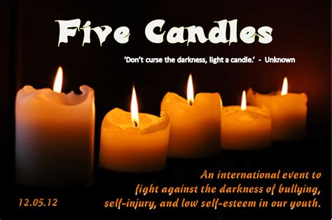 Light A Candle Don T Curse The Darkness by 5 Candles Don T Curse The Darkness Light A Candle
