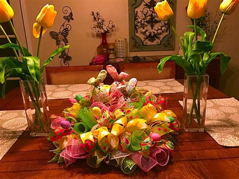 Whimsical Easter Table Arrangement Easter Centerpiece Easter Arrangements Centerpieces