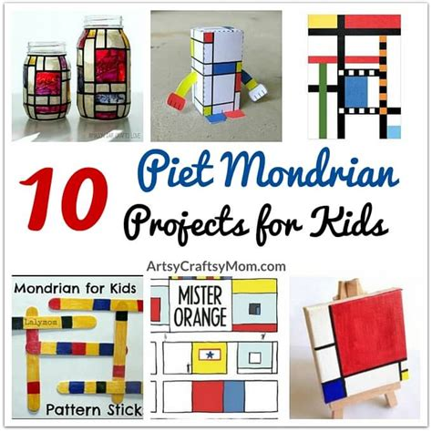 India Home Decor 10 awesome piet mondrian projects for kids
