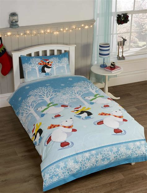 christmas bedding kids christmas bedding duvet cover bright colourful festive xmas santa reindeer ebay