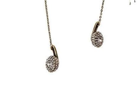 Earbuds As Jewelry by Bedazzled Musical Jewelry The Pave Headphones Necklace